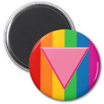Gay Pride Pink Triangle Magnet