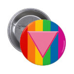 Gay Pride Pink Triangle Pinback Button