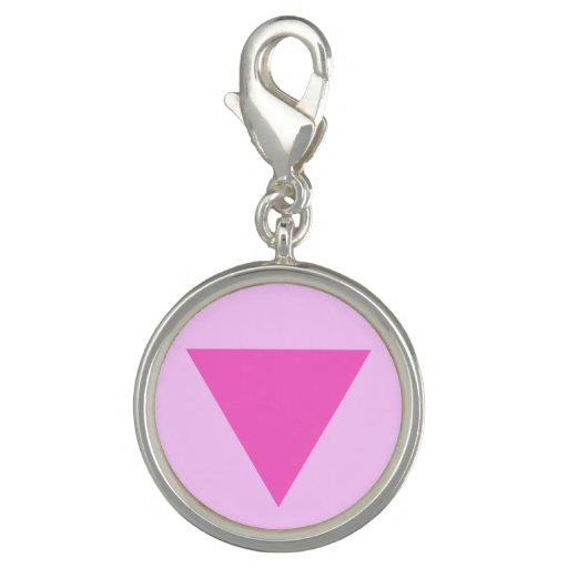Gay Pride Pink Triangle Charms