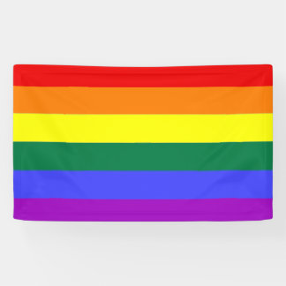 Gay Pride Rainbow Banner