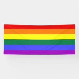 Gay Pride Rainbow Banner