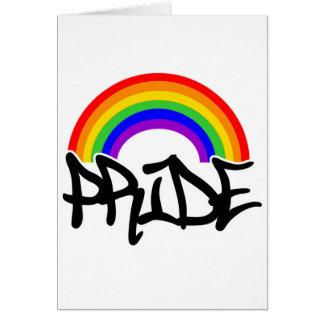 Gay Pride Rainbow Card