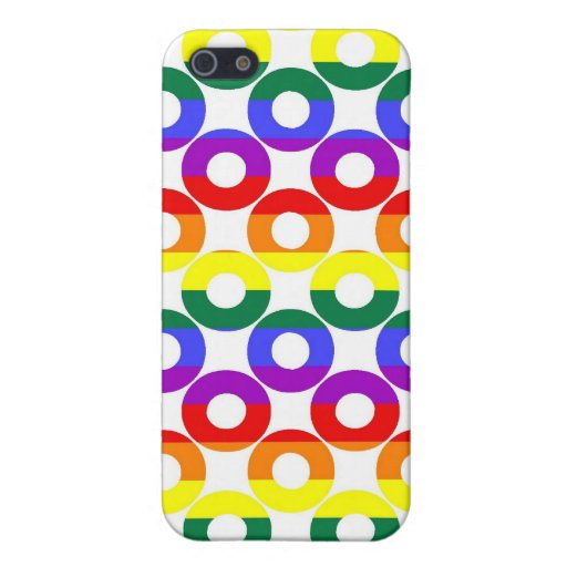 Gay Pride Rainbow Circles Case For iPhone 5/5S