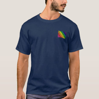 Gay Pride Rainbow Colors, Lace Floral, T-Shirt