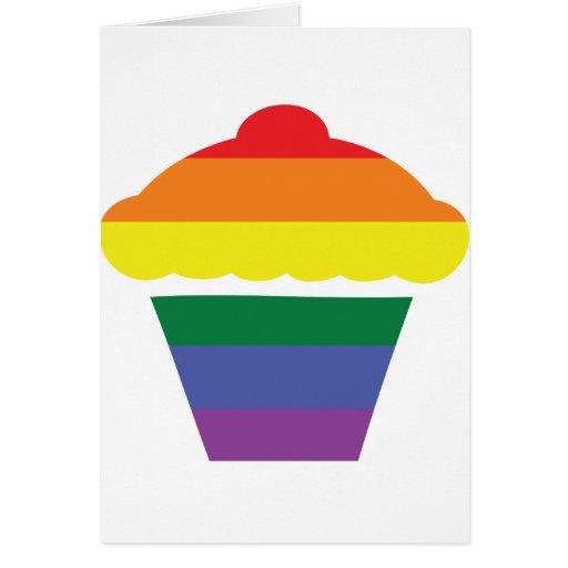 Gay Pride Rainbow Cupcake Greeting Cards