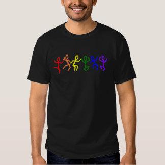 Gay Pride Rainbow Dancing People Tshirt