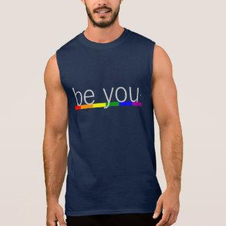Gay Pride Rainbow Flag Be you Sleeveless Shirt
