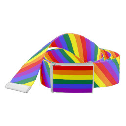 Gay Pride Rainbow Flag Belt