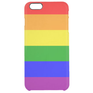 Gay Pride Rainbow flag Clear iPhone 6 Plus Case