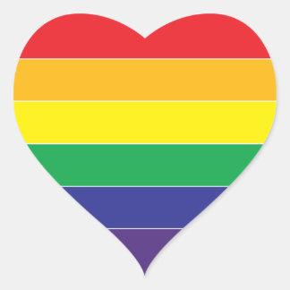 Gay Pride Rainbow Flag Colors Heart Sticker