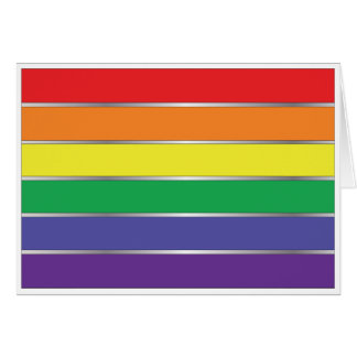 Gay Pride Rainbow Flag Colors Stationery Note Card