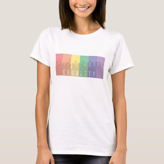 Gay Pride Rainbow Flag | Equality For All | PROP 8 T-Shirt
