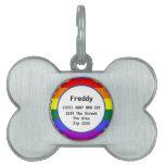 Gay Pride Rainbow Flag ID Name Pet Tags
