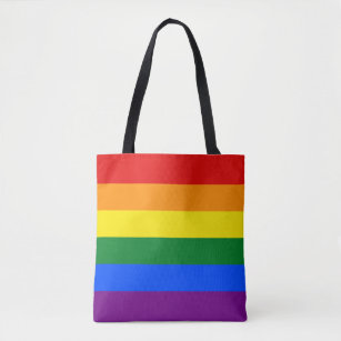 5371d050f353 Gay Pride Rainbow Flag LGBT Tote Bag