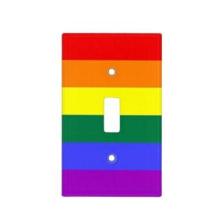 Gay Pride Rainbow Flag Light Switch Plate