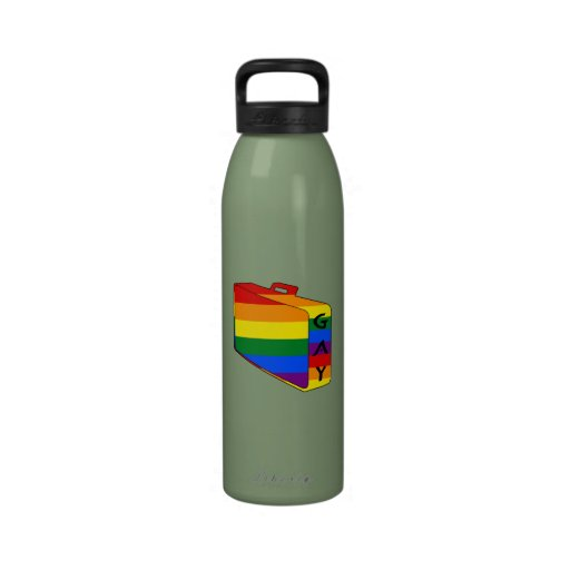 Gay Pride Rainbow Flag Luggage Reusable Water Bottles