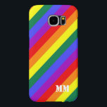 "Gay Pride Rainbow Flag Monogrammed Samsung Galaxy S6 Case<br><div class=""desc"">Gay Pride Rainbow Flag Monogrammed cases for your electronic gadgets from Ricaso</div>"