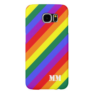 Gay Pride Rainbow Flag Monogrammed Samsung Galaxy S6 Case