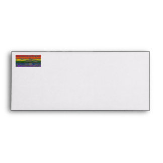 Gay Pride Rainbow Flag on Rough Wood Boards Effect Envelopes