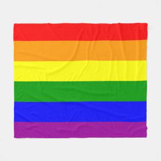 Gay Pride Rainbow Flag pattern Fleece Blanket