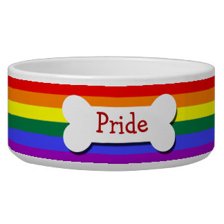 Gay Pride Rainbow Flag Personalized Bowl