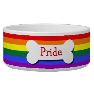 Gay Pride Rainbow Flag Personalized Bowl