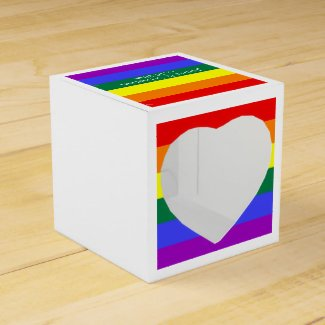 Gay Pride Rainbow Flag Personalized Party Favor Box