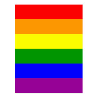 Gay Pride Rainbow Flag Postcard