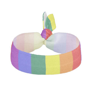 Gay Pride Rainbow Flag Ribbon Hair Ties