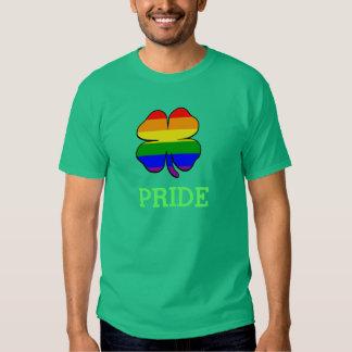 Gay Pride Rainbow flag Shamrock T-Shirt