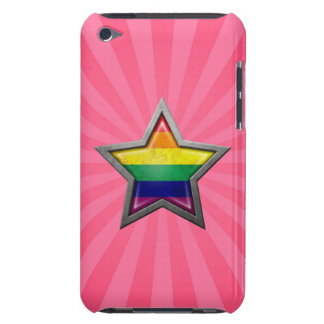 Gay Pride Rainbow Flag Star with Rays of Light Case-Mate iPod Touch Case