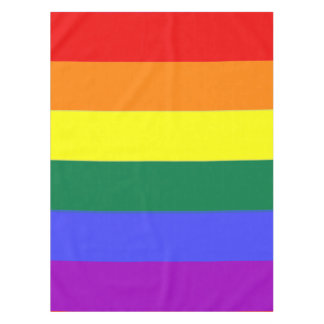 Gay Pride Rainbow Flag Striped Pattern Tablecloth