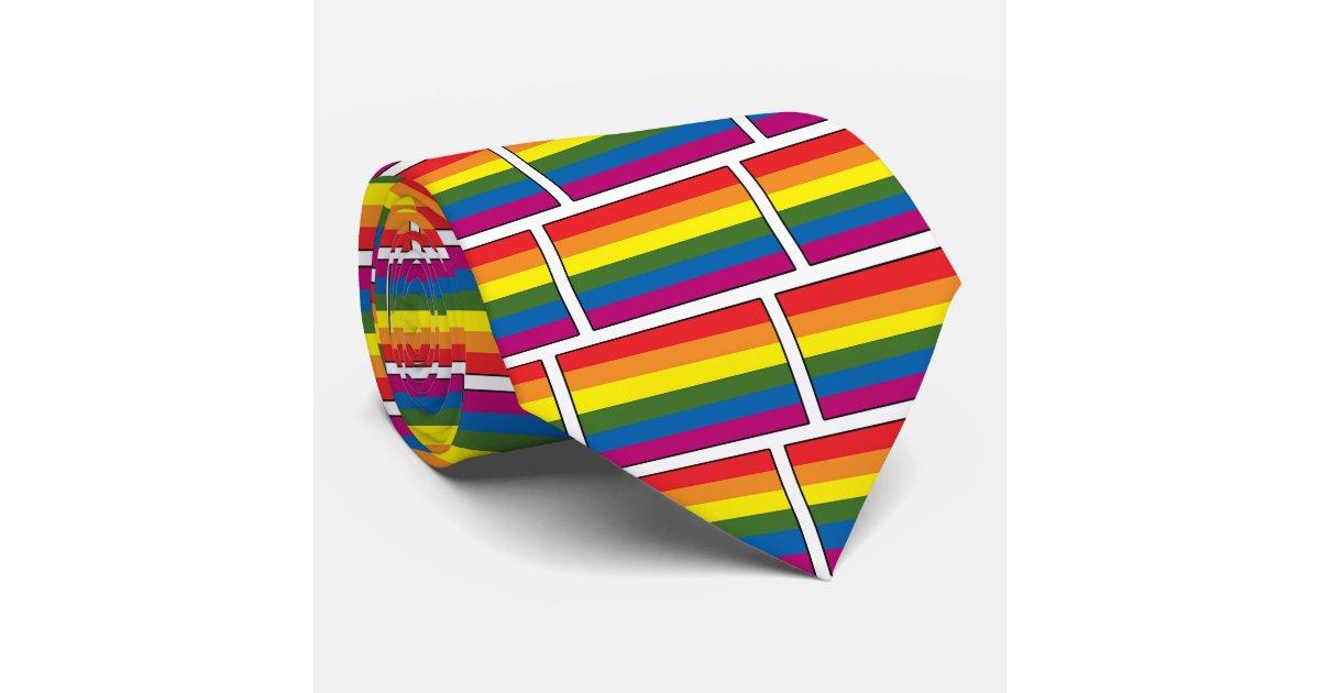 from Malaki gay pride rainbow tie clip