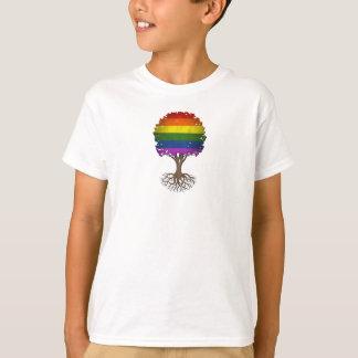Gay Pride Rainbow Flag Tree of Life Customizable T-Shirt