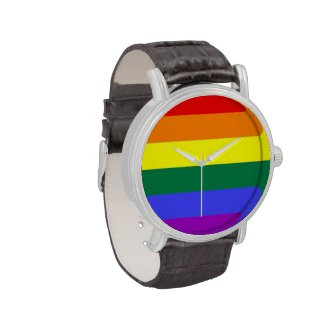 Gay Pride Rainbow Flag Watches
