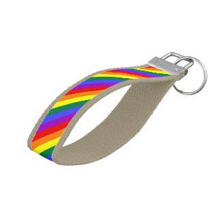 Gay Pride Rainbow Flag Wrist Keychain