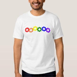 Gay Pride Rainbow Flowers Tee Shirt