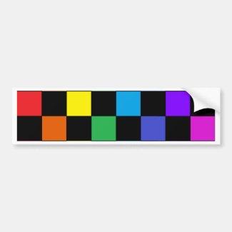 Gay Pride Rainbow Gifts - Rainbow Chessboard Bumper Sticker