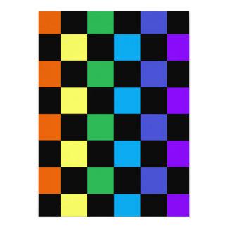 Gay Pride Rainbow Gifts - Rainbow Chessboard Card