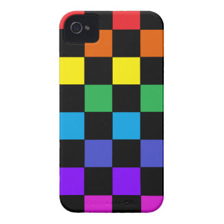 Gay Pride Rainbow Gifts - Rainbow Chessboard Case-Mate iPhone 4 Case