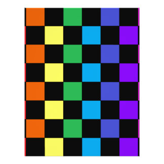 Gay Pride Rainbow Gifts - Rainbow Chessboard Full Color Flyer