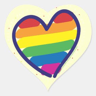 Gay Pride Rainbow Heart Heart Sticker