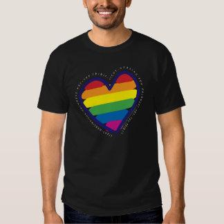 Gay Pride Rainbow Heart T Shirt