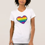 Gay Pride Rainbow Heart Tshirts