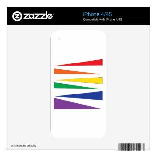Gay Pride Rainbow iPhone 4 Skins