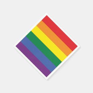Gay Pride Rainbow LGBT Flag Napkin