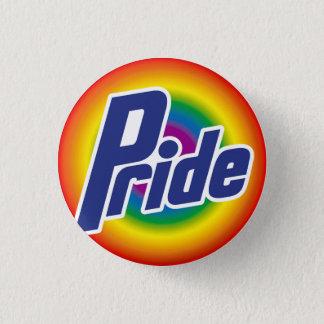 Gay Pride Rainbow Logo Button