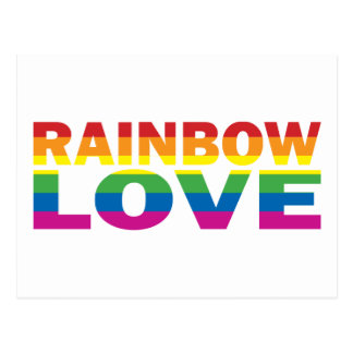 Gay Pride RAINBOW-LOVE Postcard
