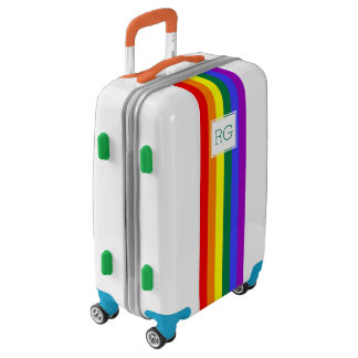 Gay Pride Rainbow Monogrammed Luggage