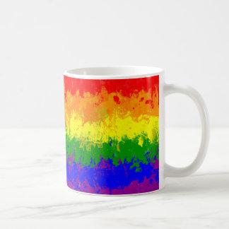 Gay Pride Rainbow Paint Splatter Flag Mug